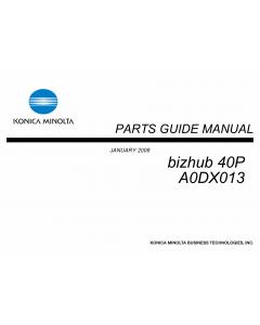 Konica-Minolta bizhub 40P A0DX013 Parts Manual