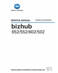 Konica-Minolta bizhub 502 552 602 652 THEORY-OPERATION Service Manual