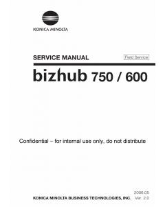 Konica-Minolta bizhub 600 750 FIELD-SERVICE Service Manual