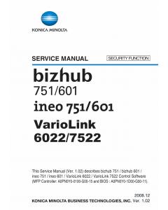 Konica-Minolta bizhub 601 751 SECURITY-FUNCTION Service Manual