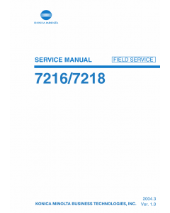 Konica-Minolta bizhub 7216 7218 Service Manual