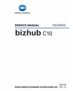 Konica-Minolta bizhub C10 FIELD-SERVICE Service Manual