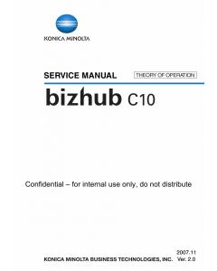 Konica-Minolta bizhub C10 THEORY-OPERATION Service Manual