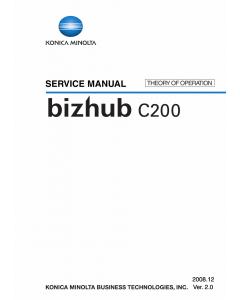 Konica-Minolta bizhub C200 THEORY-OPERATION Service Manual