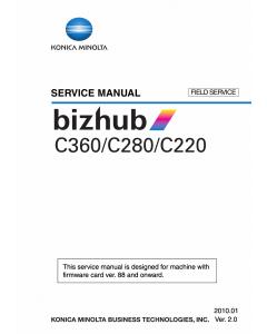 Konica-Minolta bizhub C220 C280 C360 FIELD-SERVICE Service Manual