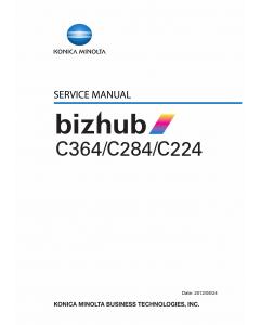 Konica-Minolta bizhub C224 C284 C364 Parts and Service Manual