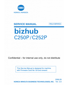 Konica-Minolta bizhub C250P C252P FIELD-SERVICE Service Manual