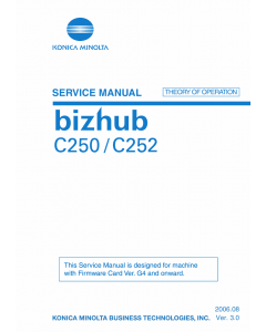 Konica-Minolta bizhub C250 C252 THEORY-OPERATION Service Manual