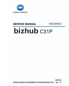 Konica-Minolta bizhub C31P FIELD-SERVICE Service Manual