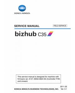 Konica-Minolta bizhub C35 FIELD-SERVICE Service Manual