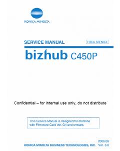 Konica-Minolta bizhub C450P FIELD-SERVICE Service Manual