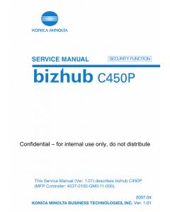Konica-Minolta bizhub C450P SECURITY FUNCITON Service Manual