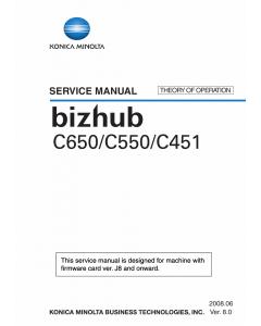 Konica-Minolta bizhub C451 C550 C650 THEORY-OPERATION Service Manual