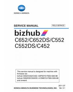 Konica-Minolta bizhub C452 C552 C552DS C652 C652DS FIELD-SERVICE Service Manual