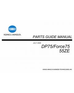 Konica-Minolta bizhub FORCE75 DP75 55ZE Parts Manual