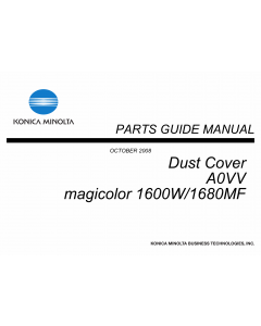 Konica-Minolta magicolor 1600W 1680MF Dust-Cover A0VV Unit Parts Manual