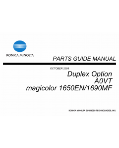 Konica-Minolta magicolor 1650EN 1690MF Duplex-Option Unit A0VT Parts Manual