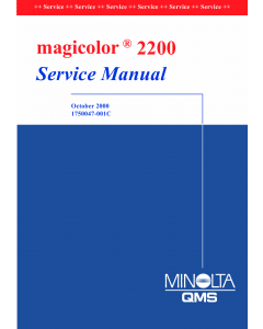 Konica-Minolta magicolor 2200 Service Manual