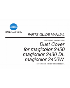 Konica-Minolta magicolor 2400W 2430DL 2450 Dust-Cover Parts Manual