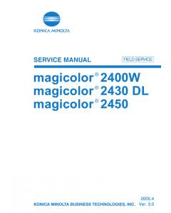 Konica-Minolta magicolor 2400W 2430DL 2450 FIELD-SERVICE Service Manual