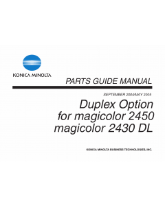 Konica-Minolta magicolor 2430DL 2450 Duplex-Option Parts Manual
