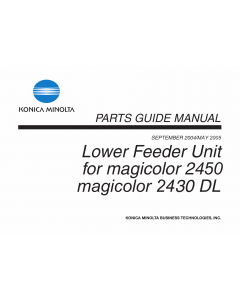 Konica-Minolta magicolor 2430DL 2450 Lower-Feeder-Unit Parts Manual