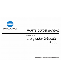 Konica-Minolta magicolor 2480MF 4556 Parts Manual