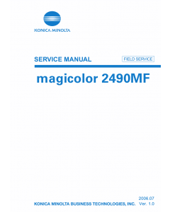 Konica-Minolta magicolor 2490MF FIELD-SERVICE Service Manual