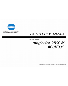 Konica-Minolta magicolor 2500W A00V001 Parts Manual