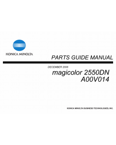 Konica-Minolta magicolor 2550DN A00V014 Parts Manual