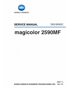 Konica-Minolta magicolor 2590MF FIELD-SERVICE Service Manual