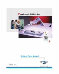 Konica-Minolta magicolor 3100 Options Parts Manual