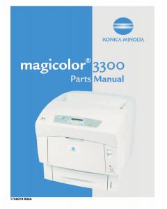 Konica-Minolta magicolor 3300 Option Parts Manual