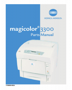 Konica-Minolta magicolor 3300 Parts Manual