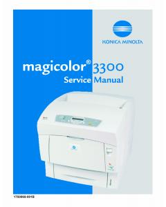 Konica-Minolta magicolor 3300 Service Manual