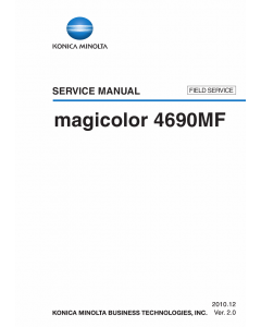 Konica-Minolta magicolor 4690MF FIELD-SERVICE Service Manual