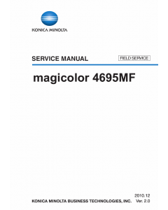 Konica-Minolta magicolor 4695MF FIELD-SERVICE Service Manual