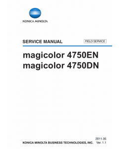 Konica-Minolta magicolor 4750EN 4750DN FIELD-SERVICE Service Manual