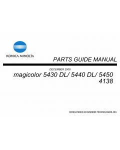 Konica-Minolta magicolor 5430DL 5440DL 5450 4138 Parts Manual