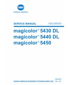 Konica-Minolta magicolor 5430DL 5440DL 5450 FIELD-SERVICE Service Manual