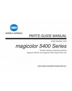 Konica-Minolta magicolor 5440DL 5450 Parts Manual