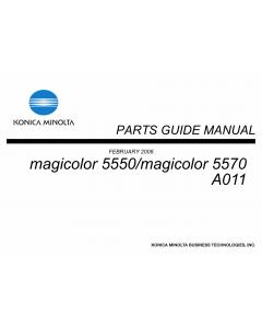 Konica-Minolta magicolor 5550 5570 A011 Parts Manual