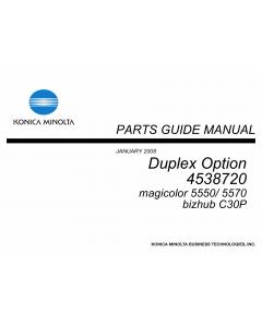Konica-Minolta magicolor 5550 5570 C30P Duplex-Option 4538720 Parts Manual