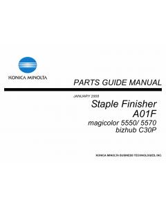Konica-Minolta magicolor 5550 5570 C30P Staple-Finisher A01F Parts Manual