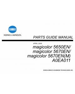 Konica-Minolta magicolor 5650EN 5670EN A0EA011 Parts Manual