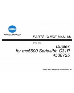 Konica-Minolta magicolor 5650 C31P Duplex 4538725 Parts Manual