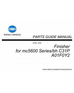 Konica-Minolta magicolor 5650 C31P Finisher A01F0Y2 Parts Manual