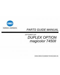 Konica-Minolta magicolor 7450II Duplex-Option Parts Manual