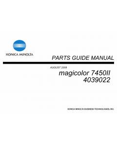 Konica-Minolta magicolor 7450II Parts Manual