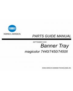 Konica-Minolta magicolor 7450 7440 7450II Banner-Tray Parts Manual